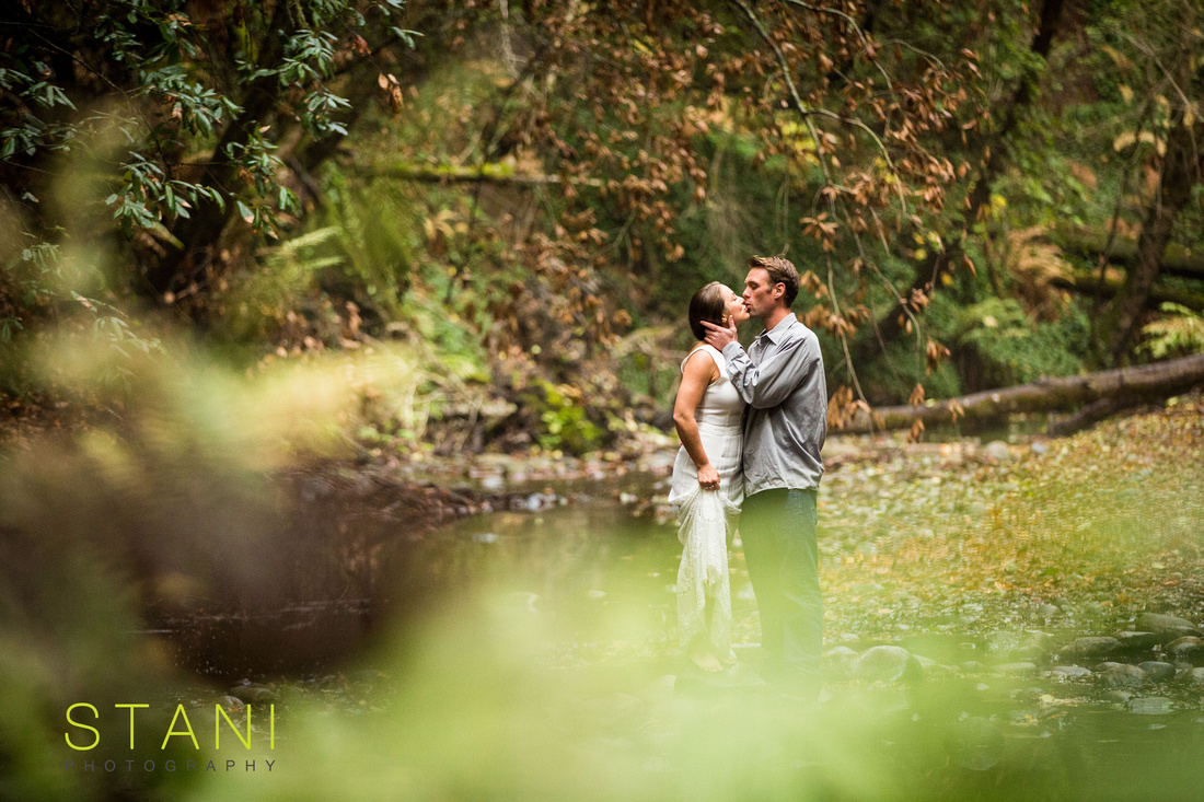 engagement session in river