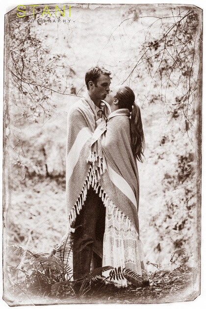 vintage engagement portrait